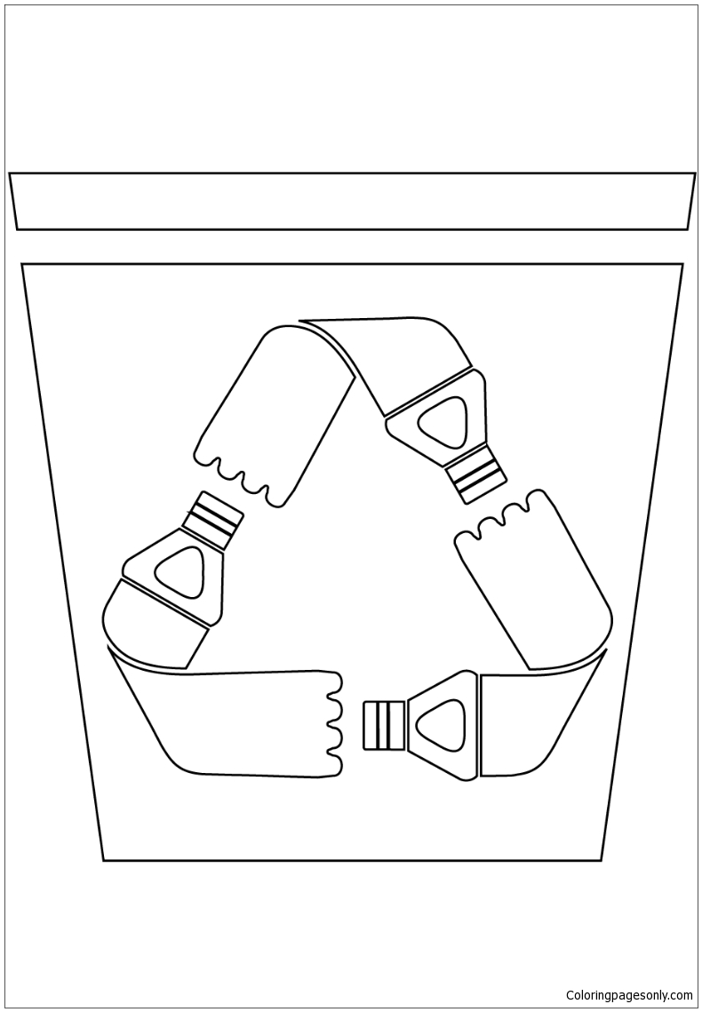 Pet Recycling Bin Coloring Page Free Coloring Pages Online
