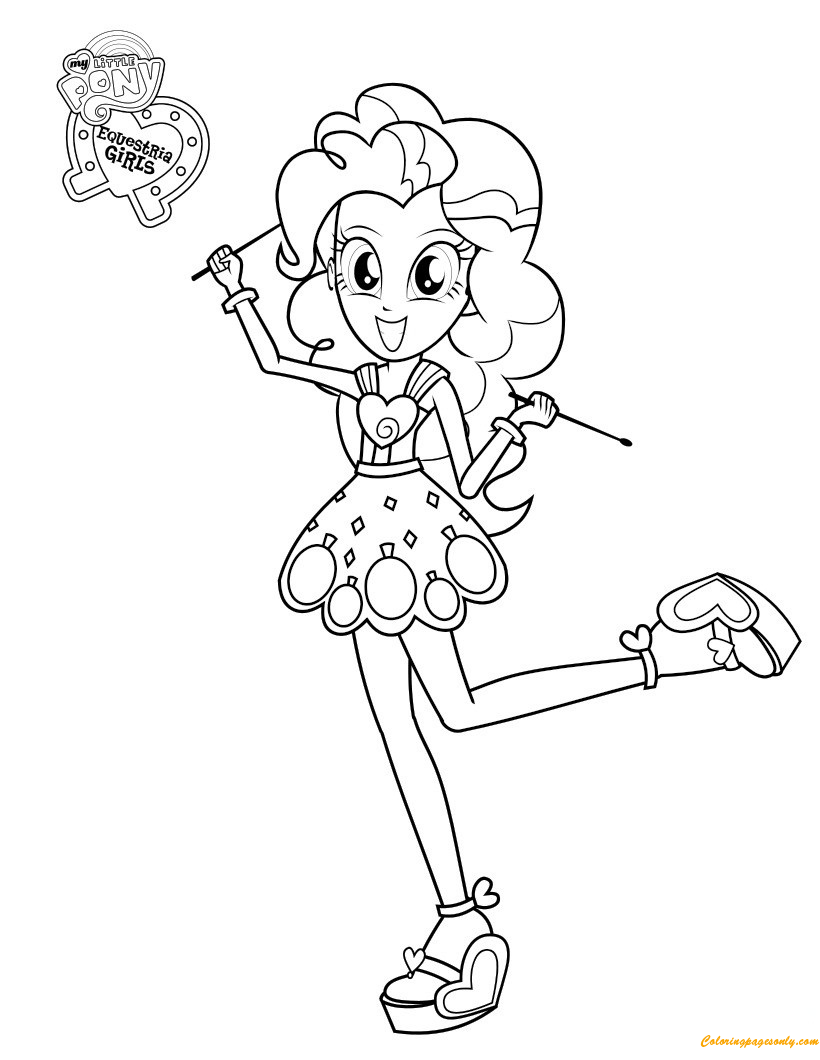 Pinkie Pie From My Little Pony Coloring Page Free Coloring Pages