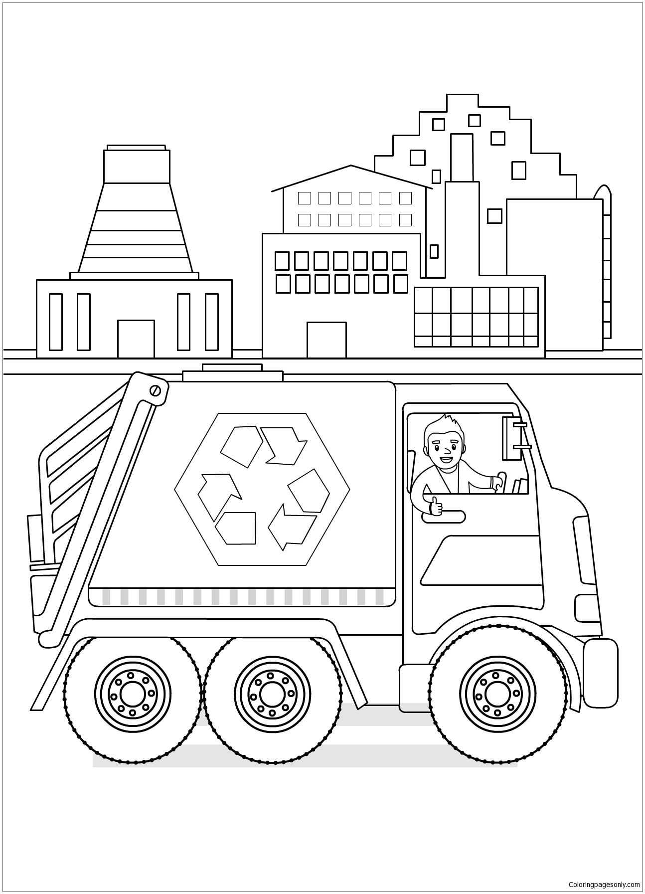 Recycling Diary Coloring Page