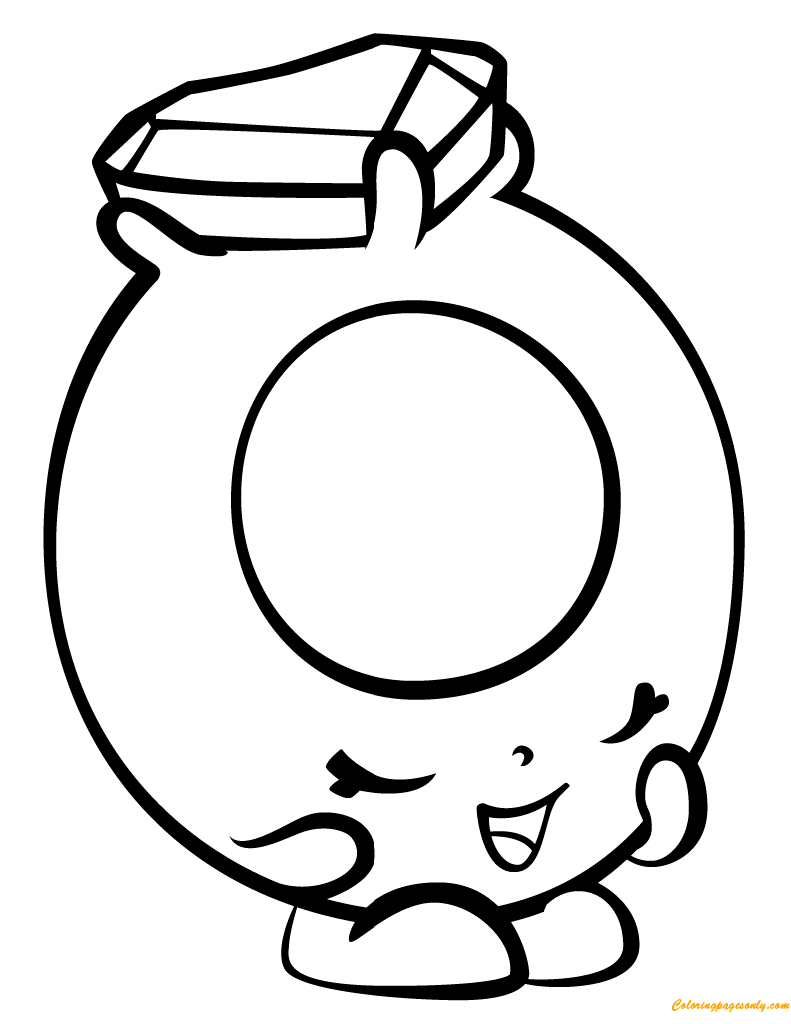 Ring A Rosie Shopkin Season 3 Coloring Page Free Coloring Pages