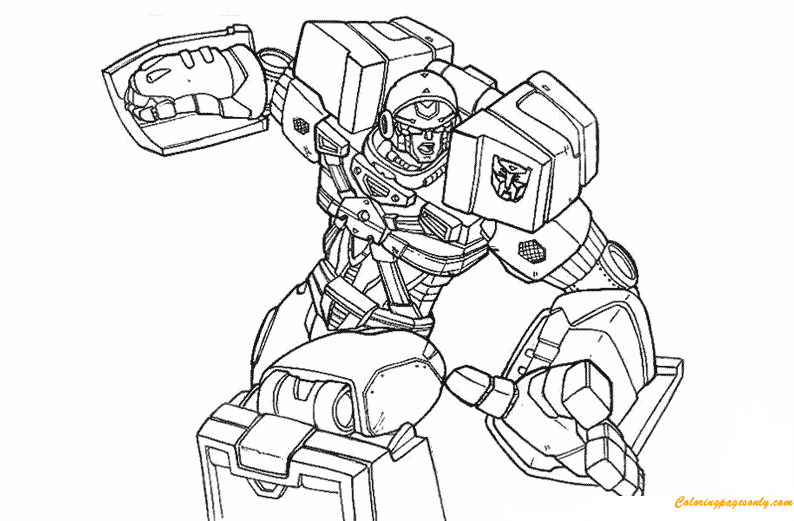 Robot Transformers Coloring Page Free Coloring Pages Online