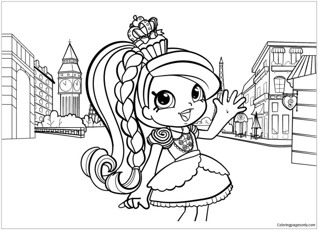 Shopkins Girl in Europe Coloring Pages - Shopkins Coloring Pages