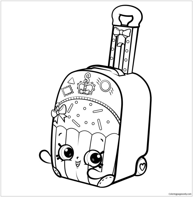 Shopkins World Vacation Coloring Pages - Shopkins Coloring Pages
