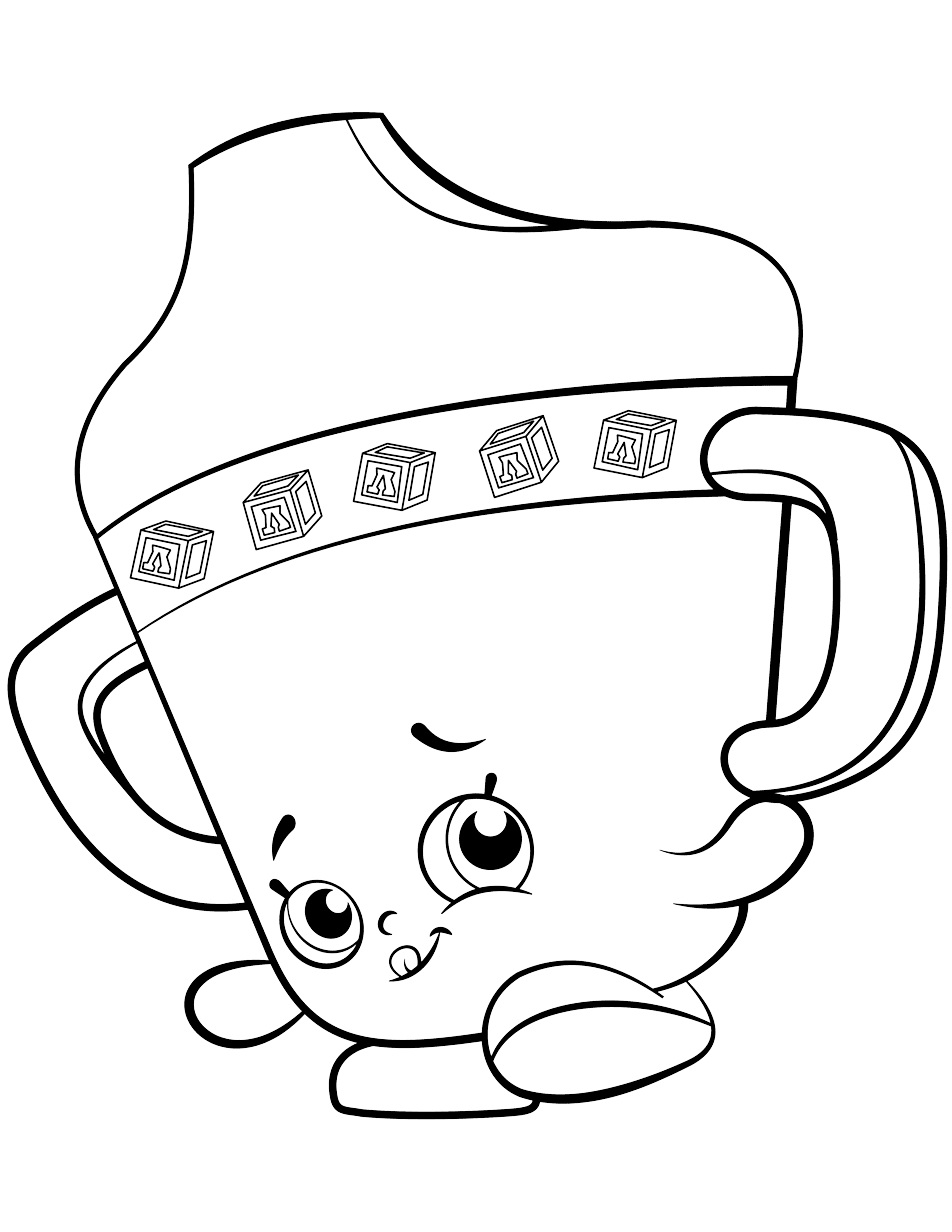 Shopkins Shoppies Ballet Coloring Page Free Coloring Pages Online