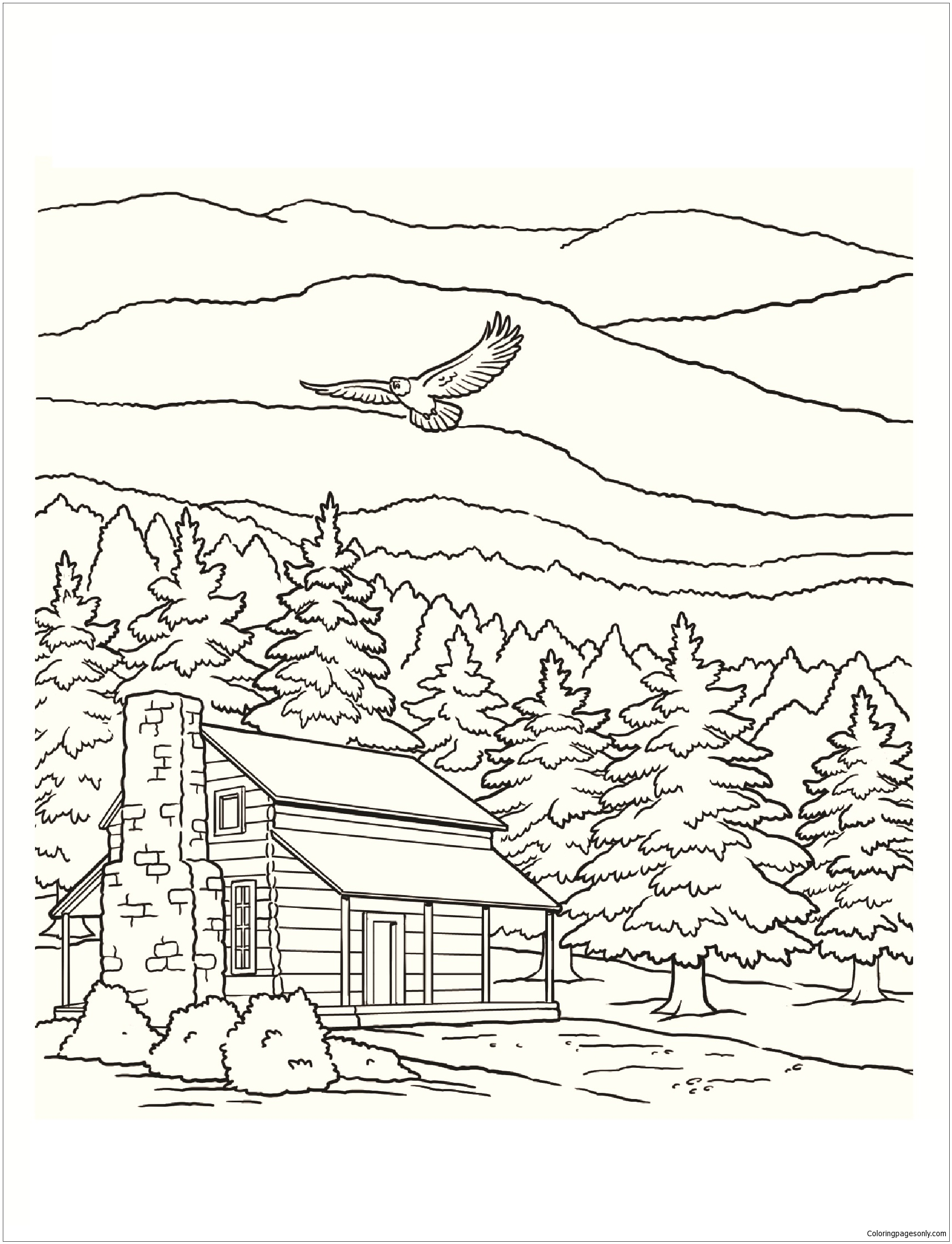 Smoky Mountains National Park Coloring Page Free Coloring Pages Online