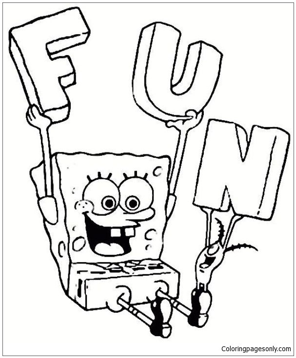 Spongebob Squarepants Funny Coloring Page Free Coloring Pages Online