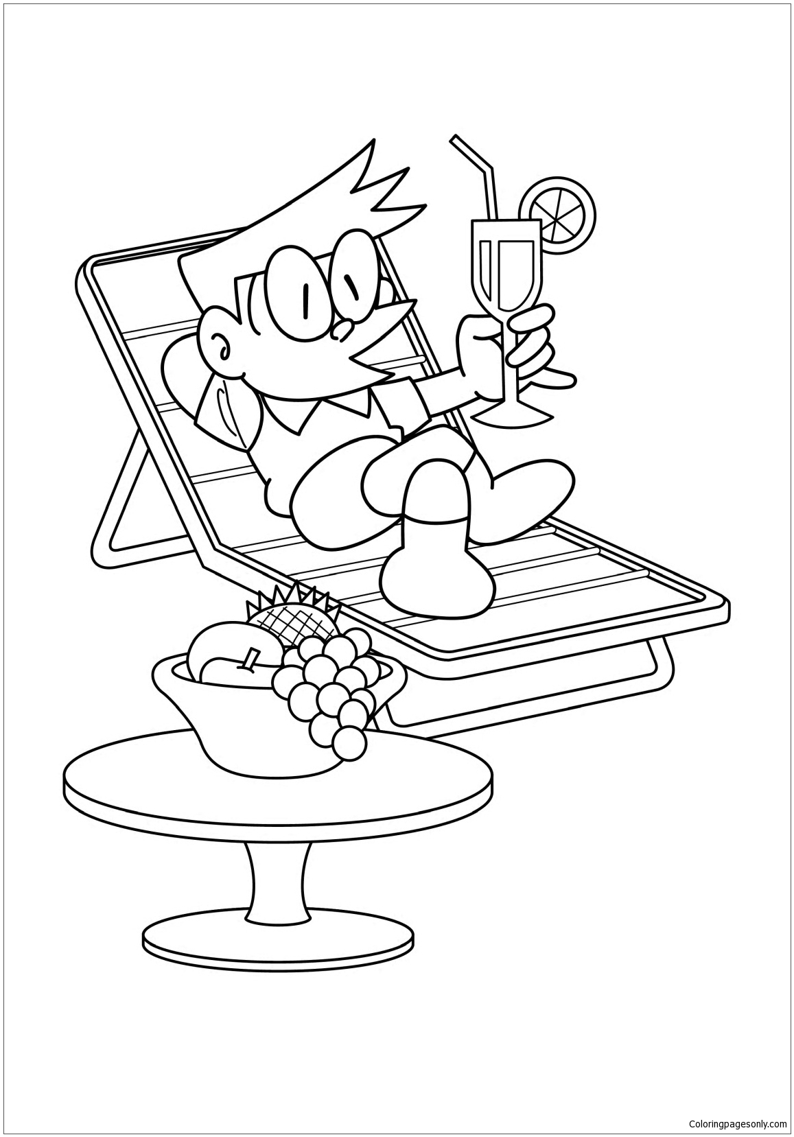 Suneo Are Relaxing Coloring Page Free Coloring Pages Online