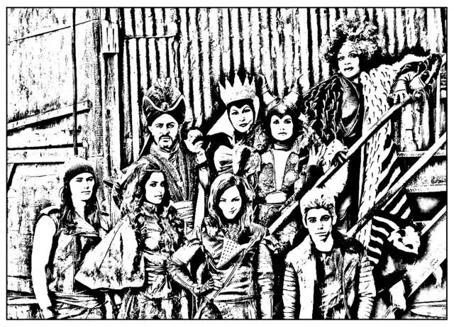 The descendants for children Coloring Pages - Descendants Coloring