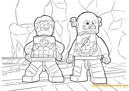 The Flash Characters Lego Coloring Page Free Coloring