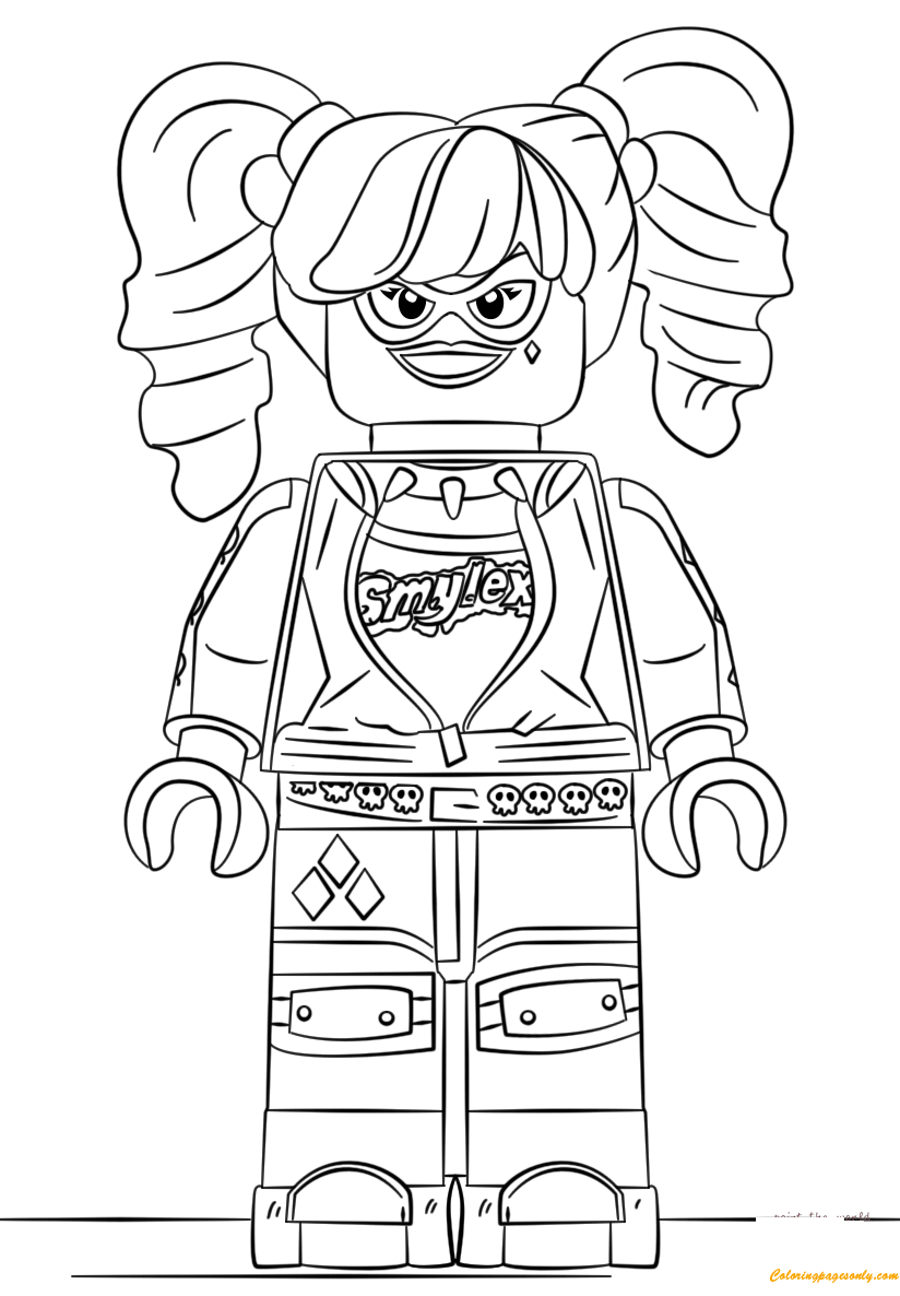 The Lego Batman Harley Quinn Coloring Page Free Coloring Pages