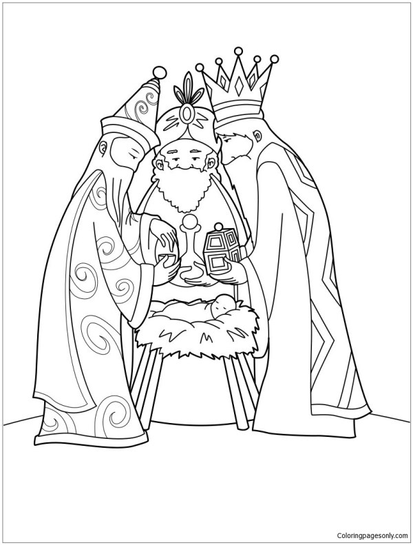 baby jesus coloring page # 22