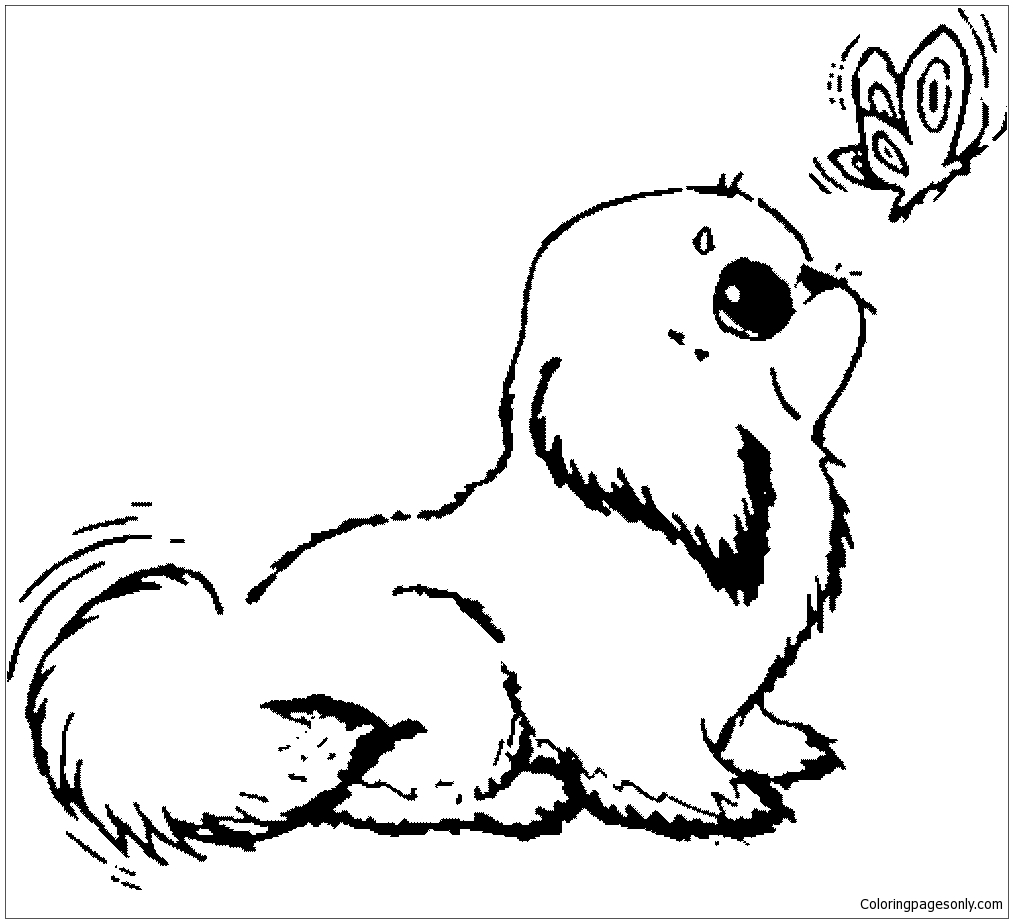 Unique Puppy Dog Coloring Page Free Coloring Pages Online