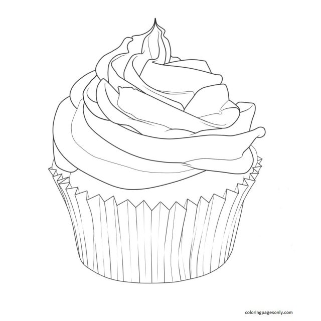 Cupcake 19 Coloring Pages - Cupcake Coloring Pages - Coloring
