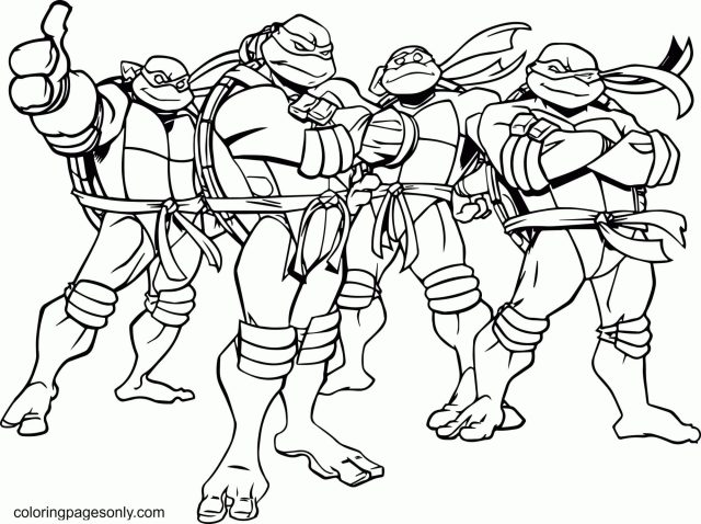 Awesome Turtle Coloring Pages - Ninja Coloring Pages - Coloring