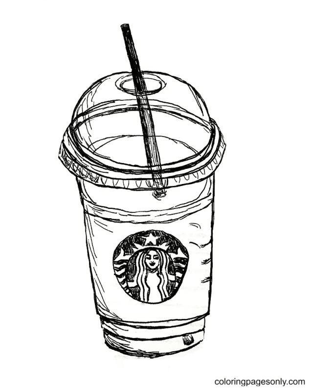 Cup Of Starbucks Coloring Pages - Starbucks Coloring Pages