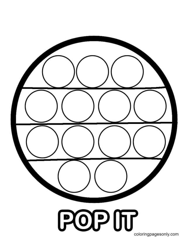 Pop It Circle Coloring Pages - Pop It Coloring Pages - Coloring