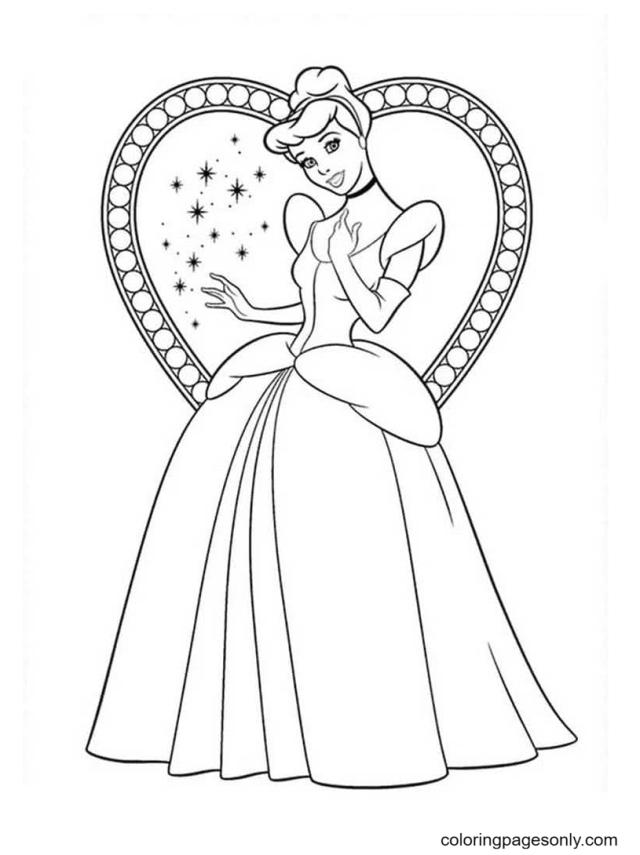 The Cinderella Princess Disney Coloring Pages - Cinderella