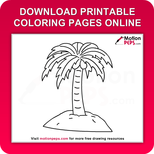 download free printable palm tree coloring pages for kids online