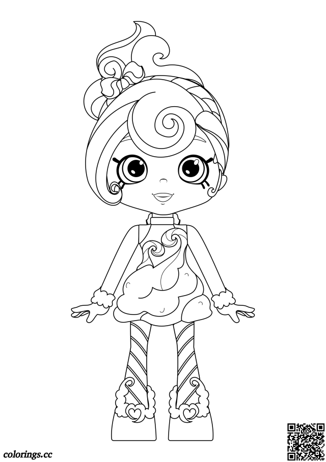 Shoppies - Candy Sweets coloring pages, Shopkins coloring pages