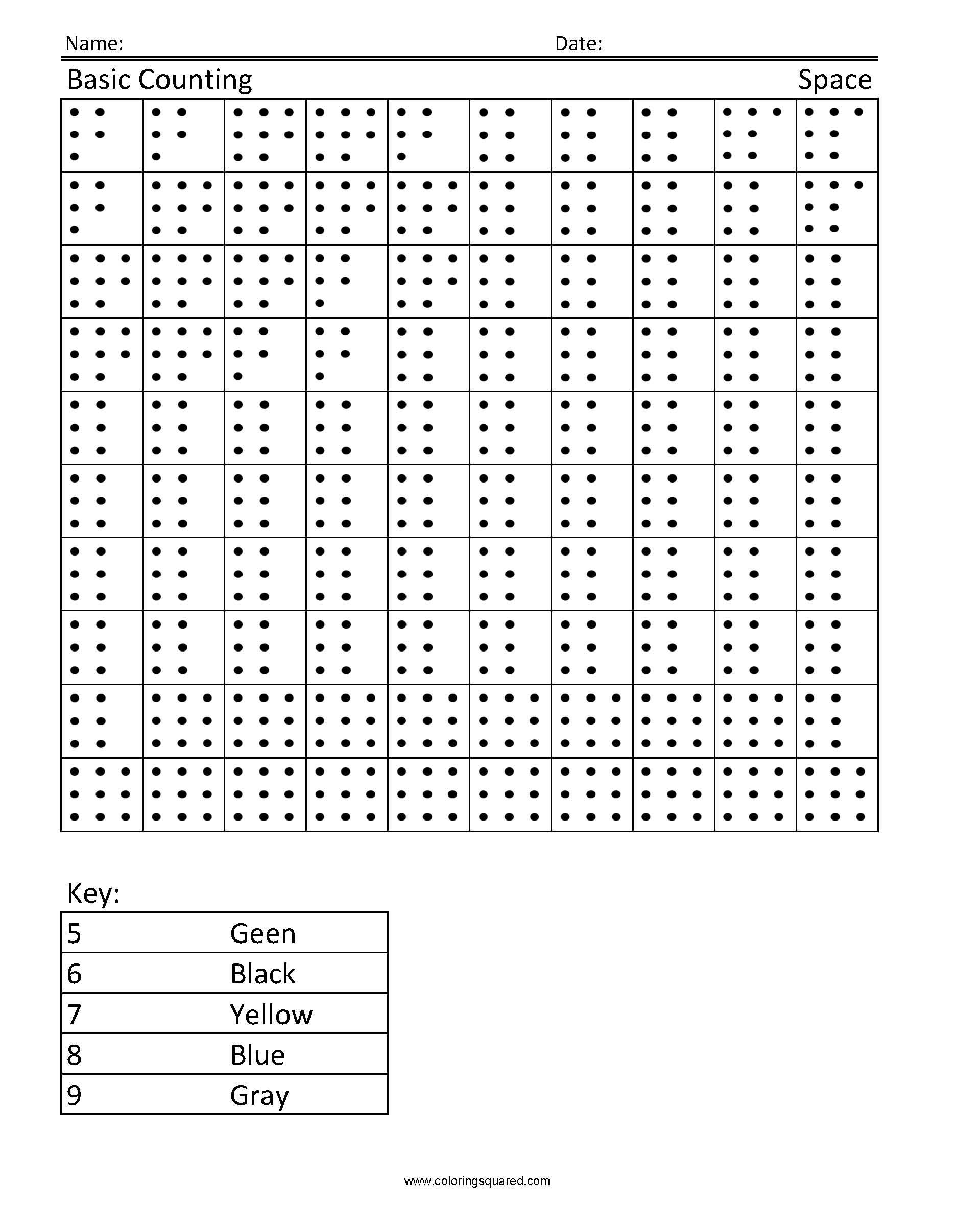 Spongebob Counting Worksheet