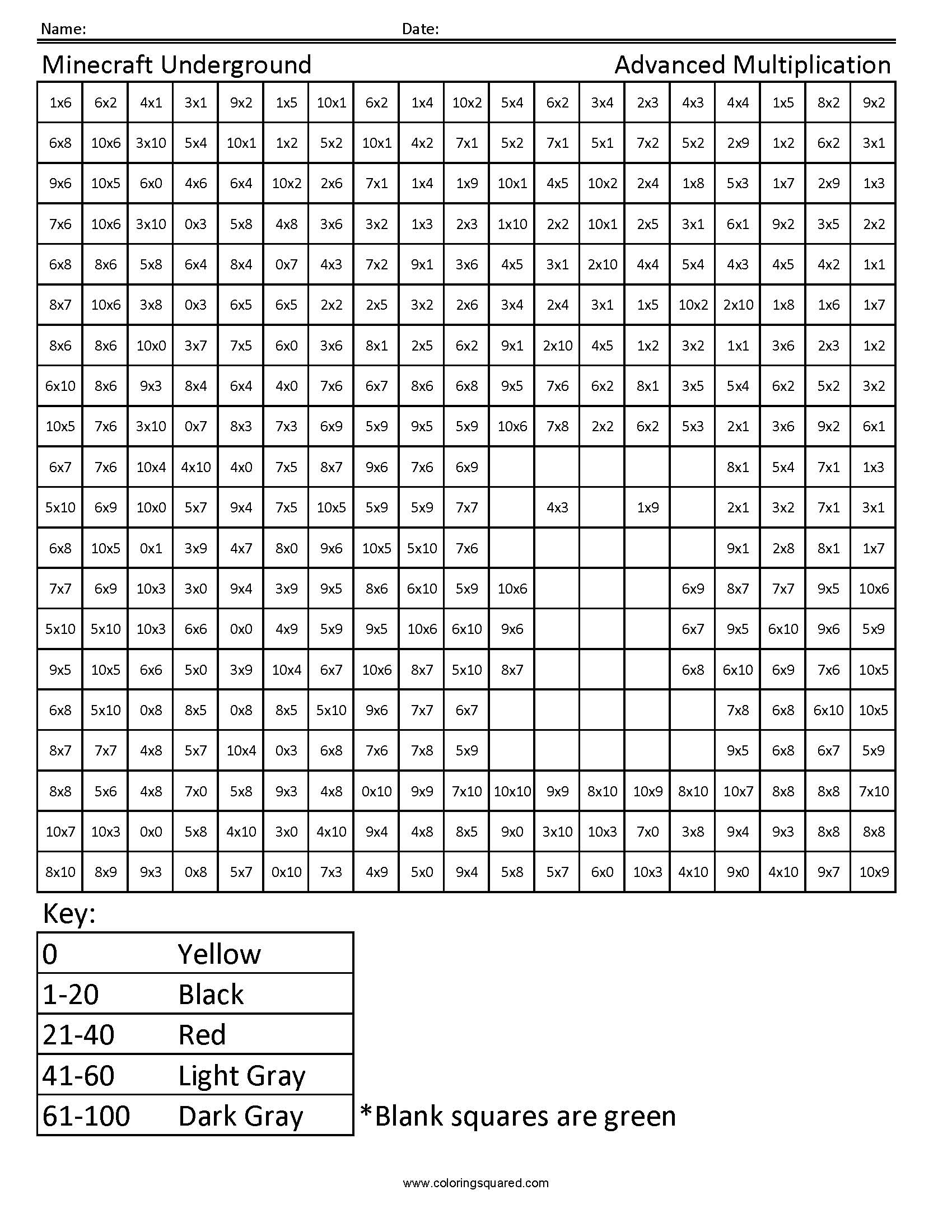Transformers Multiplication And Division Math Coloring Worksheets Coloring Squared