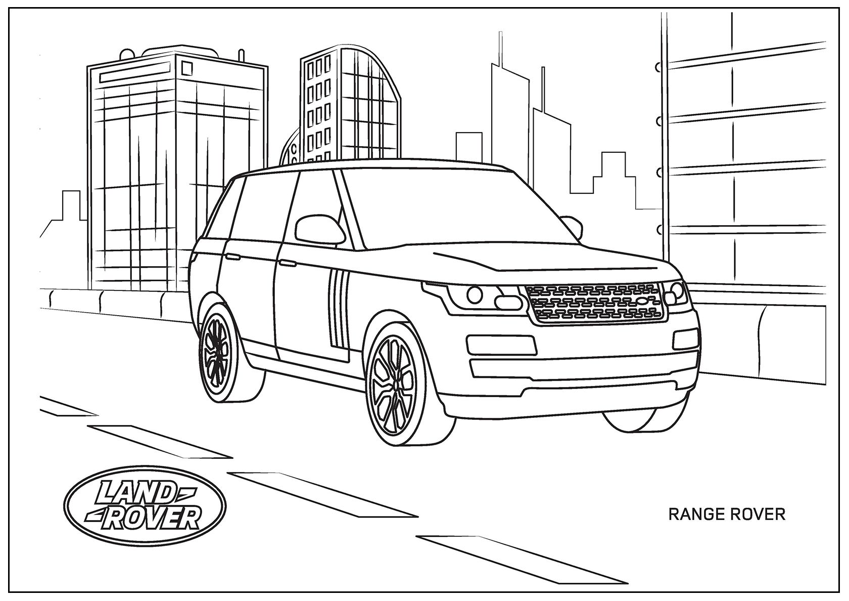 Land Rover Coloring Pages To Download And Print For Free