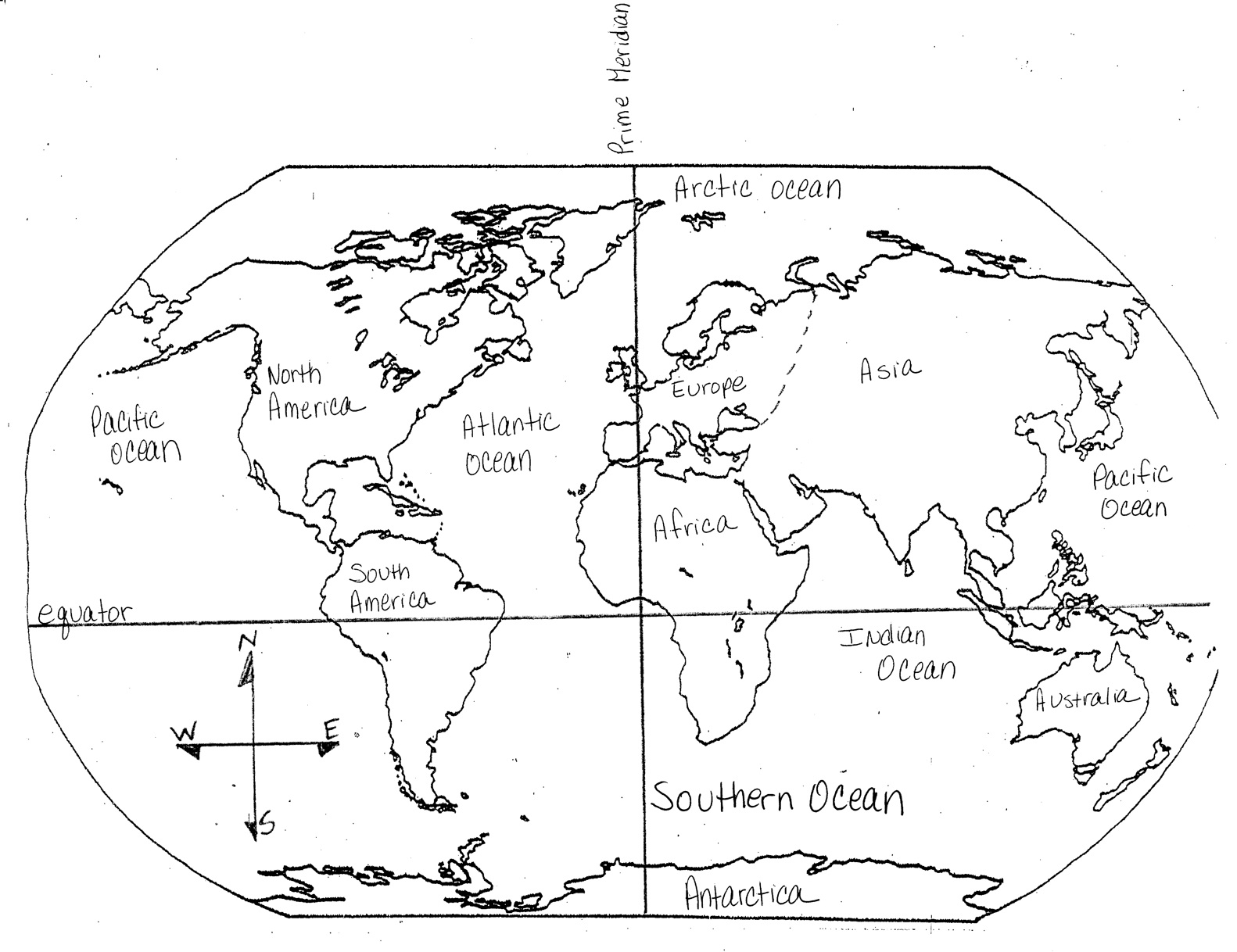 Continents Map Coloring Pages Download And Print For Free