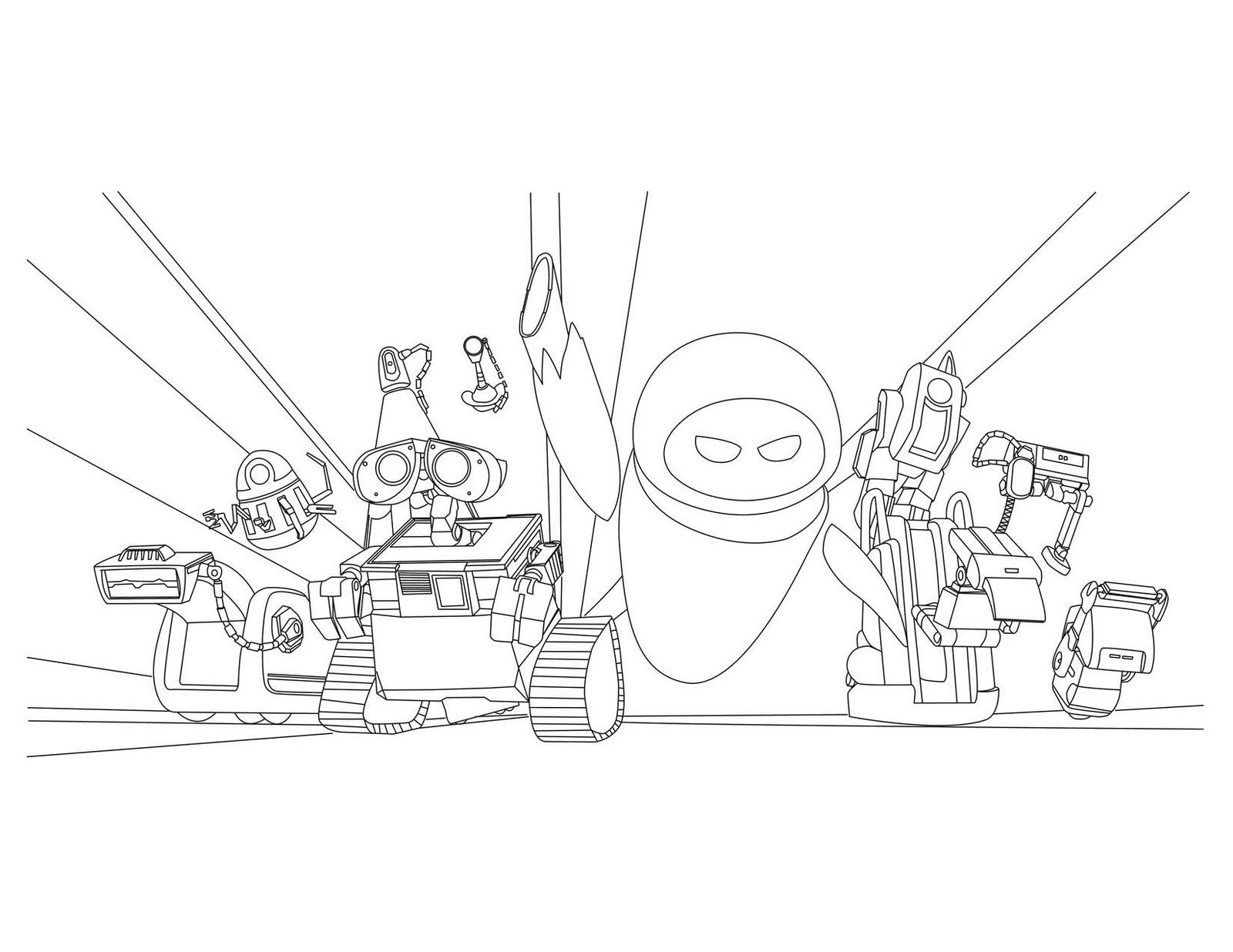 Wall E Coloring Pages To Download And Print For Free