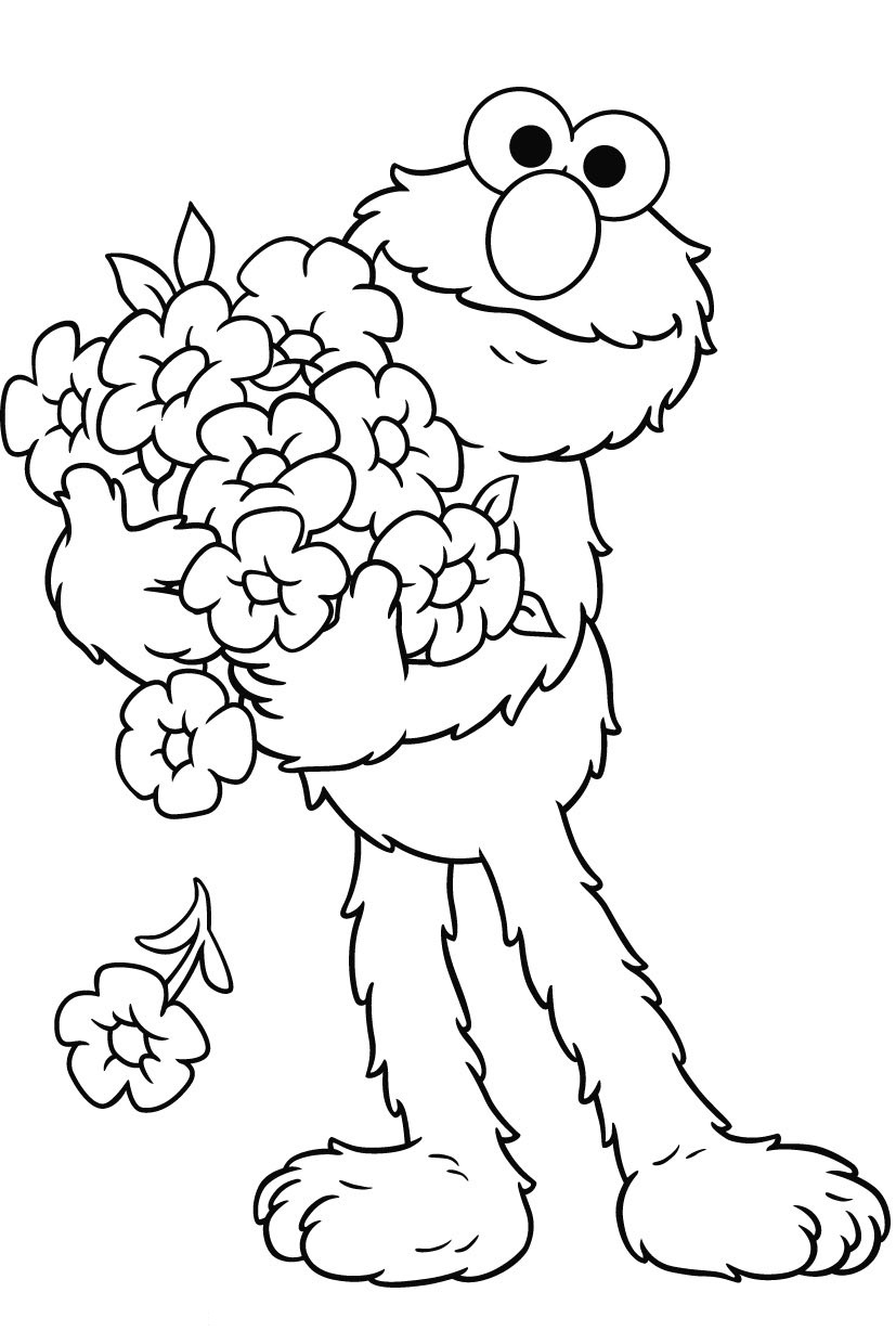 Elmo coloring pages to download and print for free | free colouring pages for toddlers