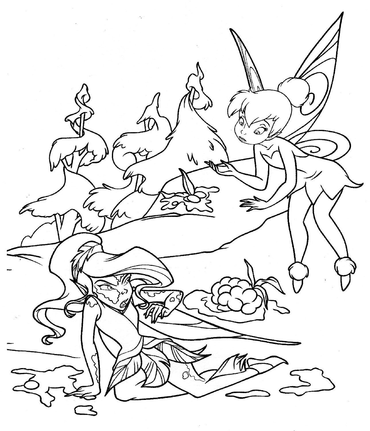 tinker bell coloring pages to download and print for free