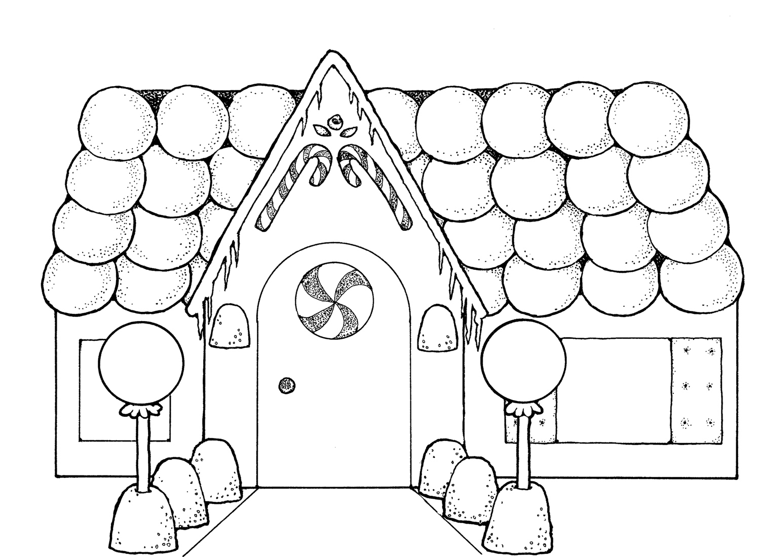 Gingerbread House Coloring Pages To Download And Print For
