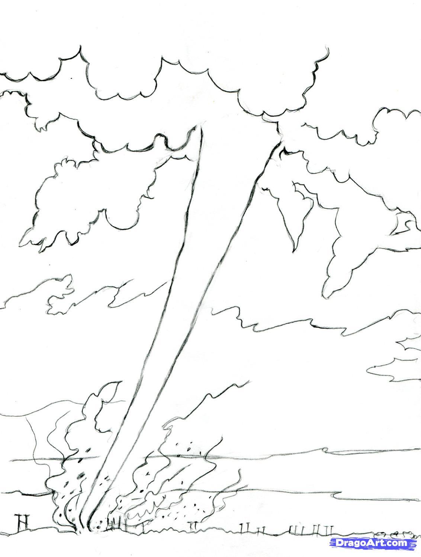 Tornado Coloring Pages Sketch Coloring Page