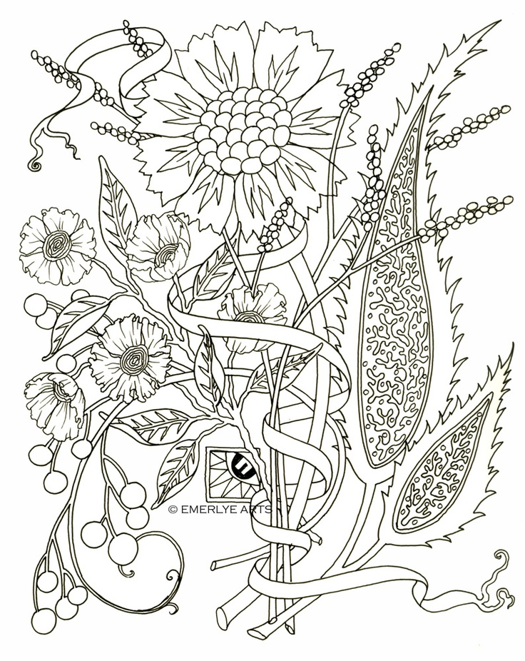 Adult coloring pages flowers to download and print for free | free printable coloring pages for adults only flowers