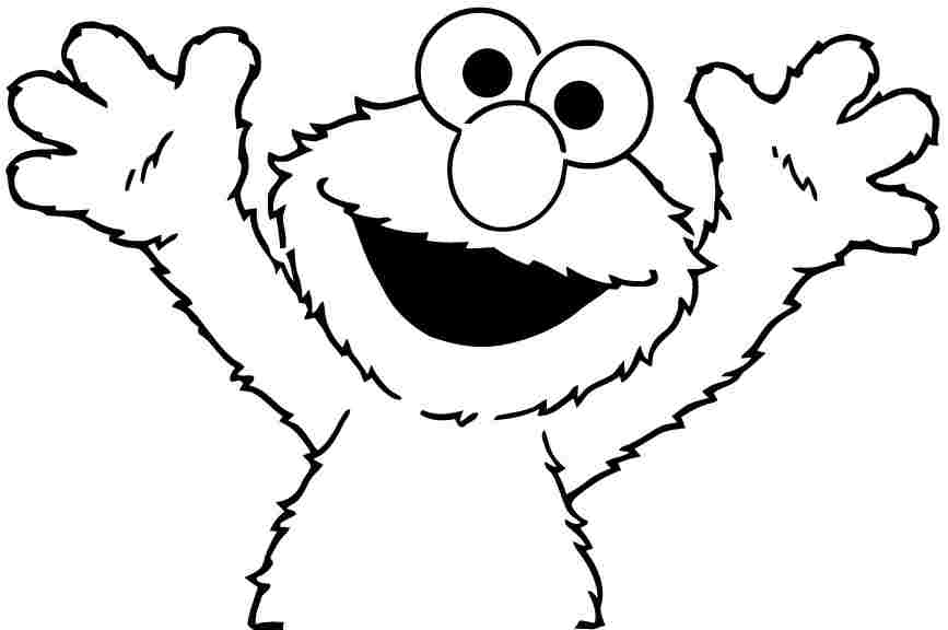 Elmo Printable Coloring Pages Free