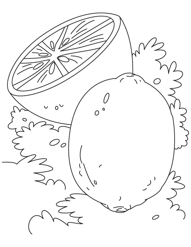lemon coloring pages download and print for free