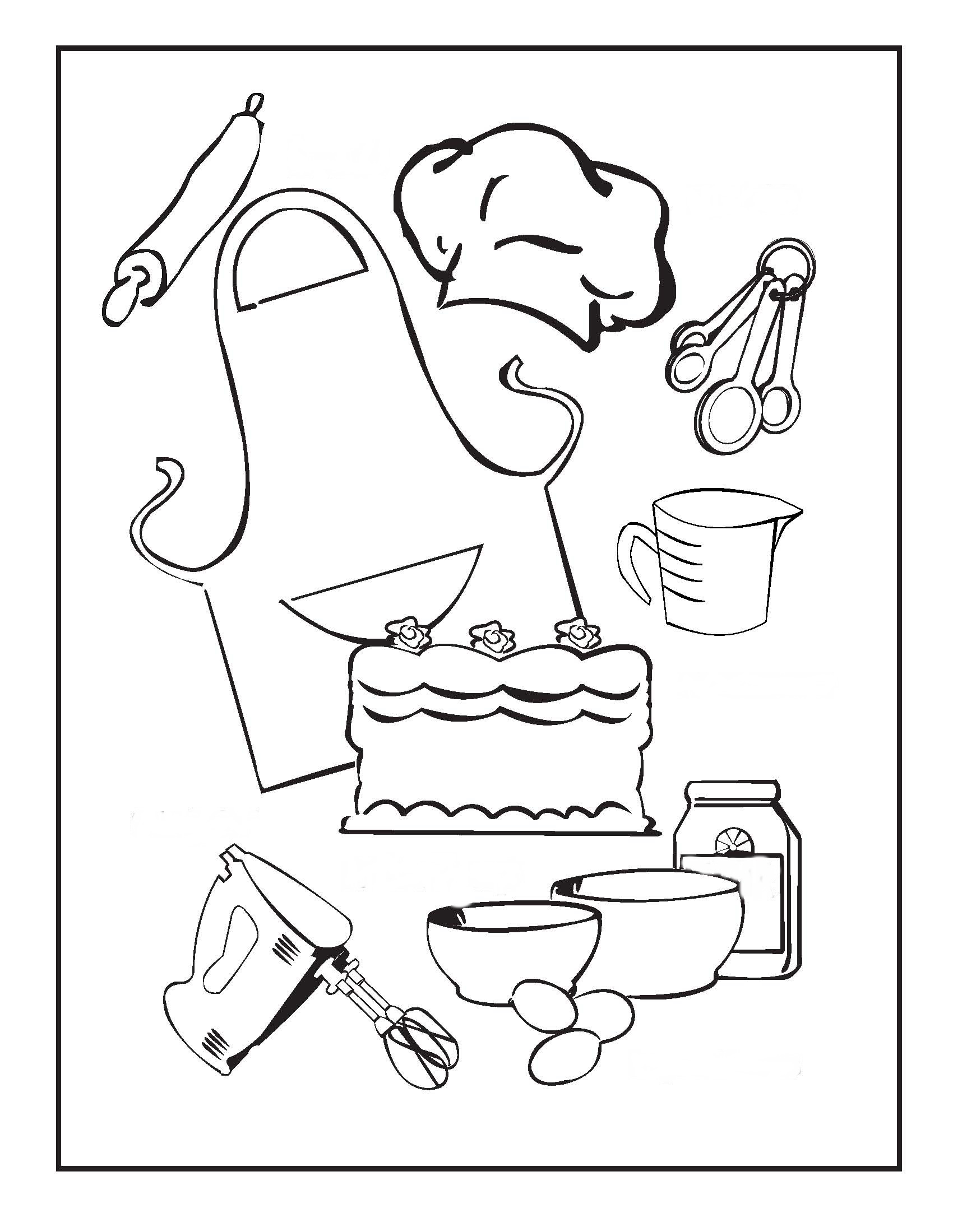 Baking Tools Worksheet
