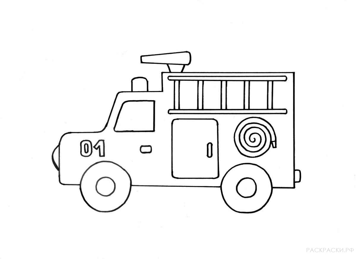 Fire Engine Coloring Pages To Download And Print For Free