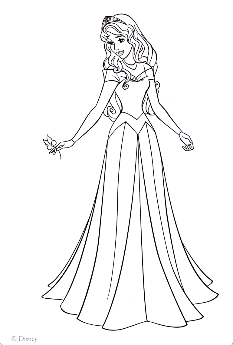 Princess aurora coloring pages to download and print for free | free printable princess aurora coloring pages