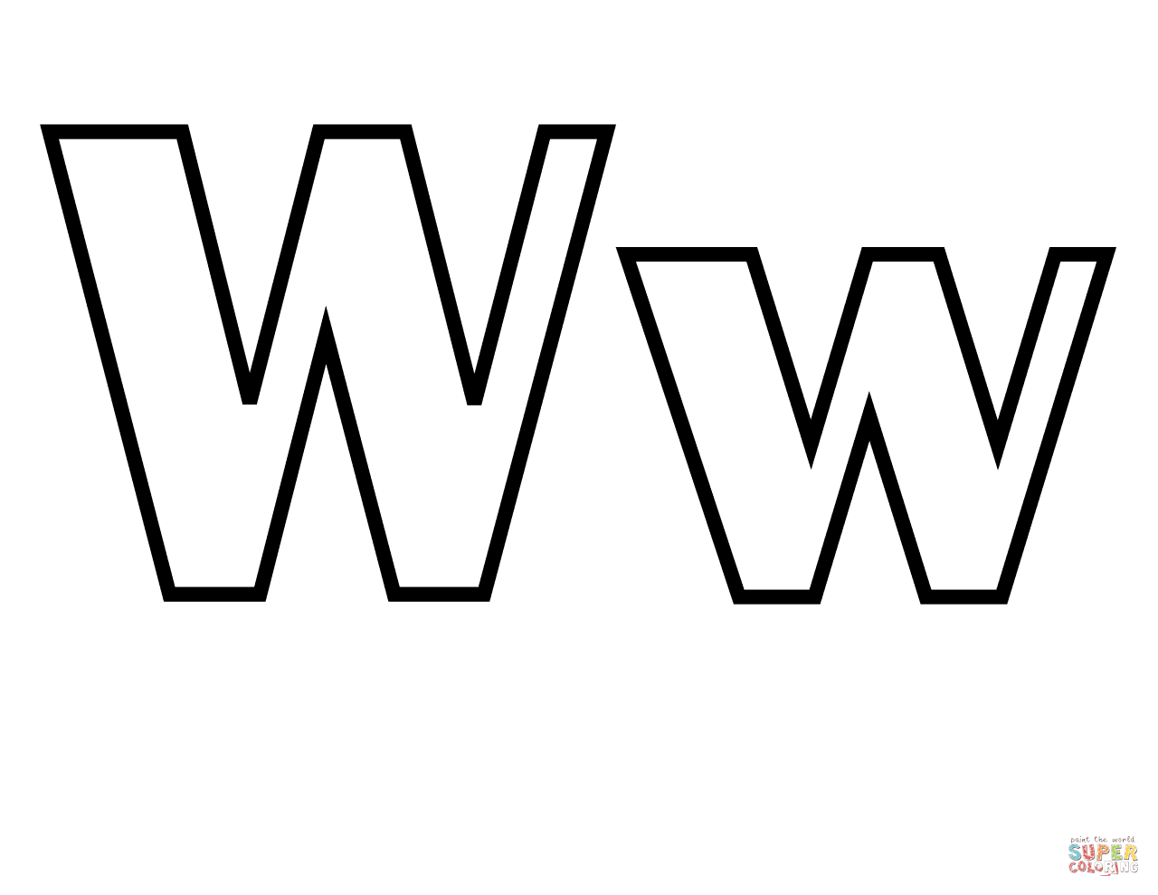 Letter W Coloring Pages To Download And Print For Free