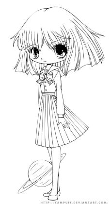 Chibi coloring pages to download and print for free Chibi coloring pages