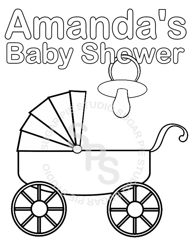 Baby Shower Coloring Pages | Snelinternetwesterwolde | 800x618