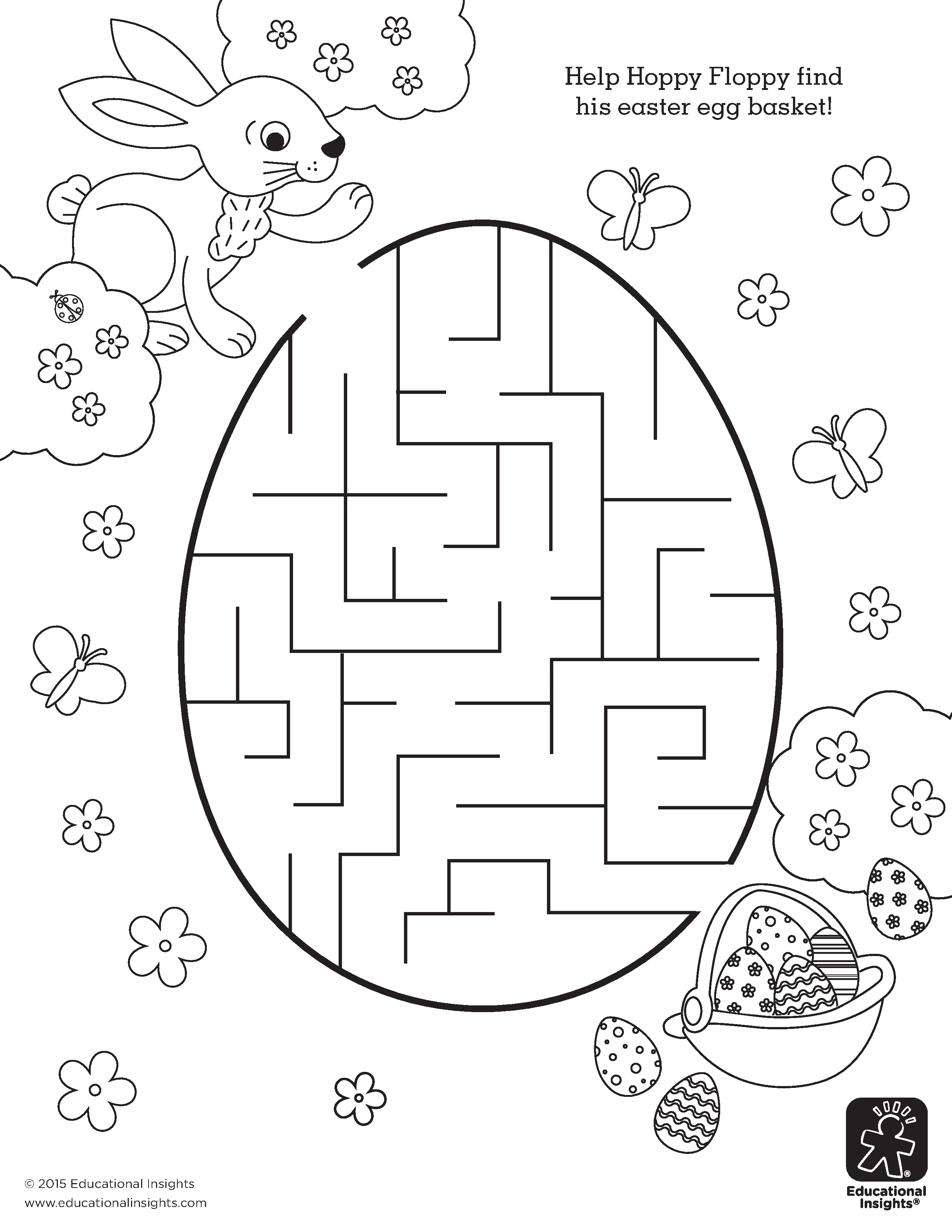 Easter Maze Coloring Pages Download And Print For Free
