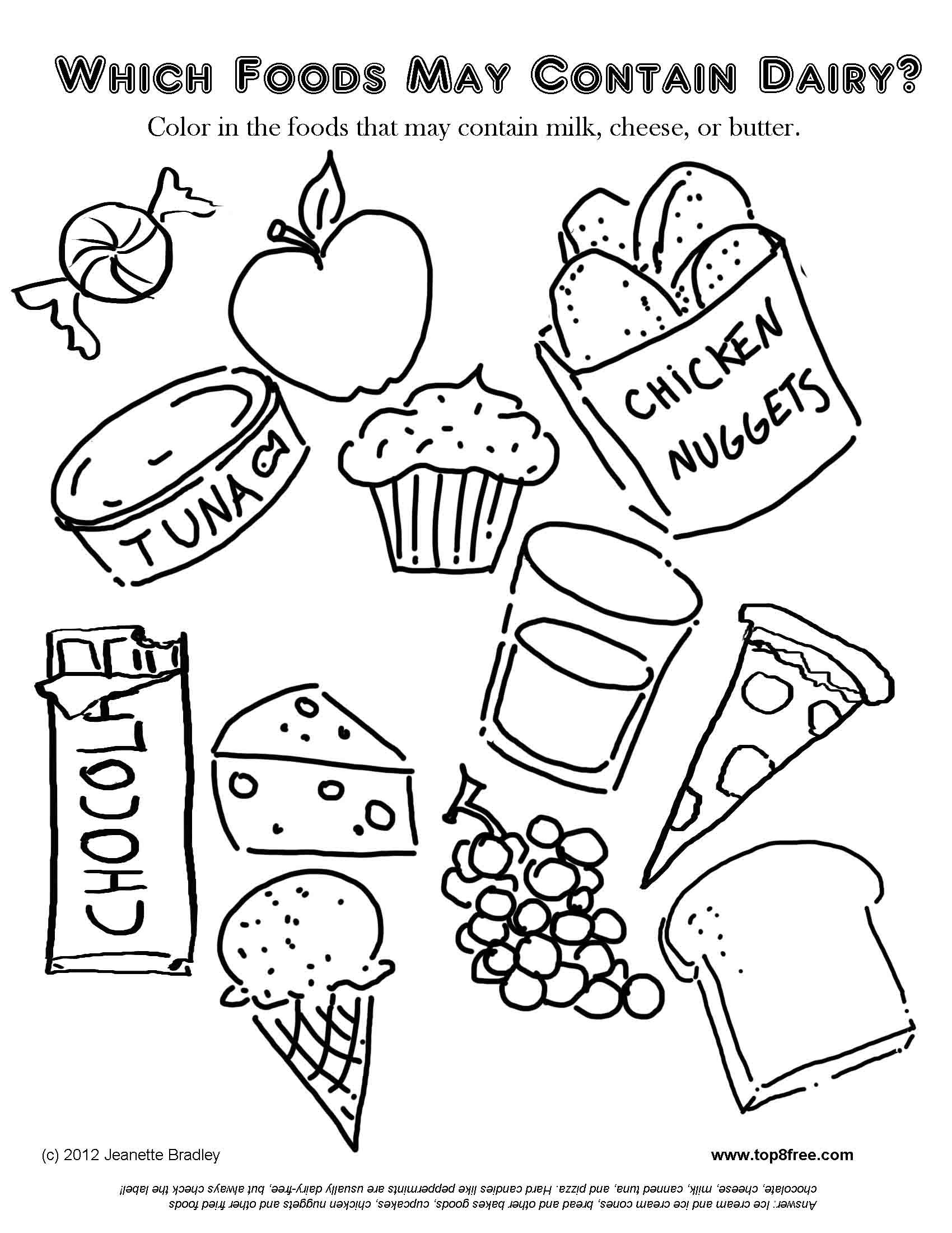 Dessert Coloring Pages To Download And Print For Free