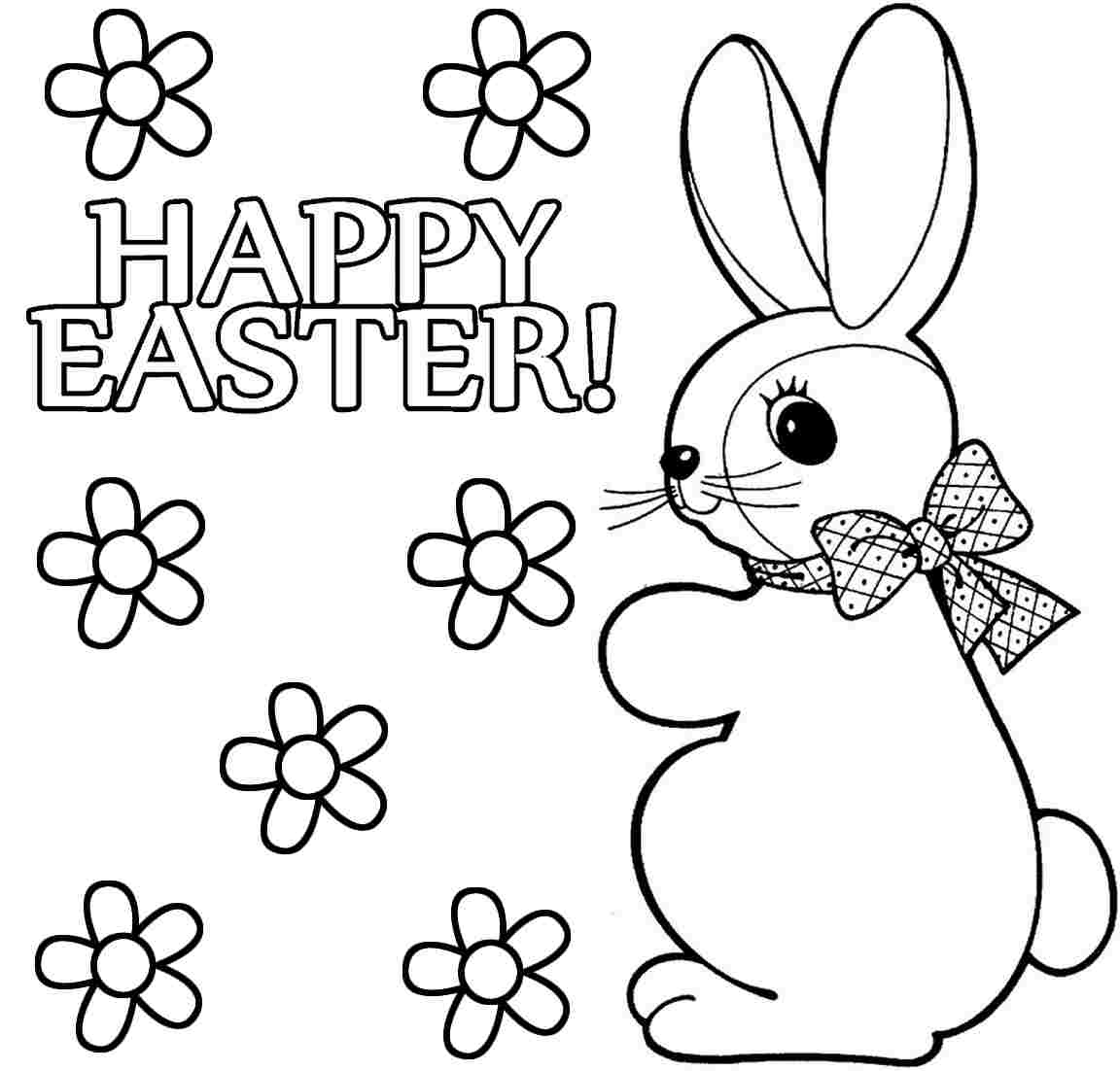 Bunny Easter Coloring Pages Download And Print For Free