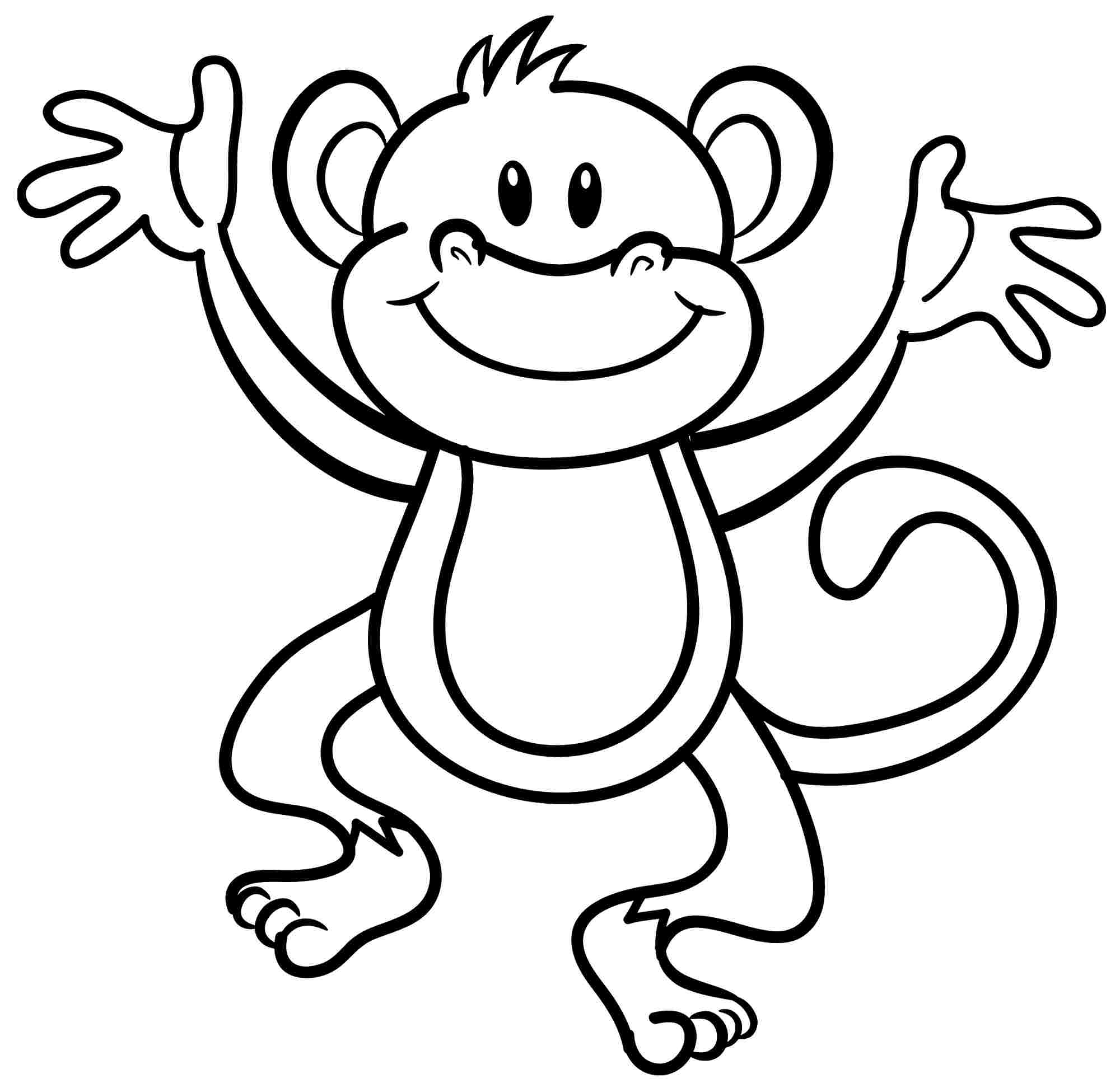monkey coloring page aaldtk