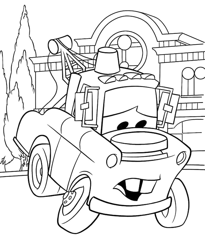 mater coloring pages to download and print for free
