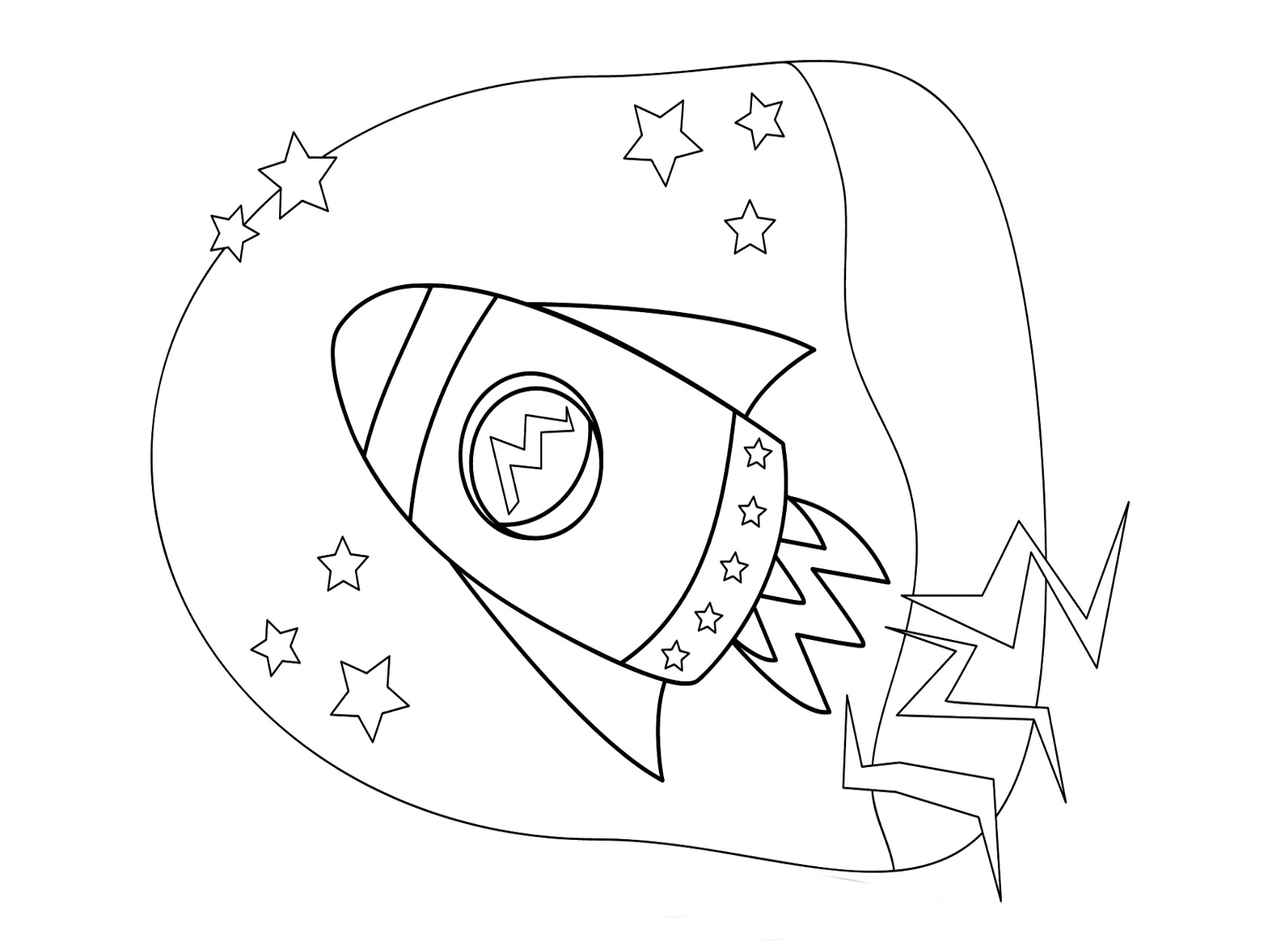 Rocket Ship Coloring Pages To Download And Print For Free