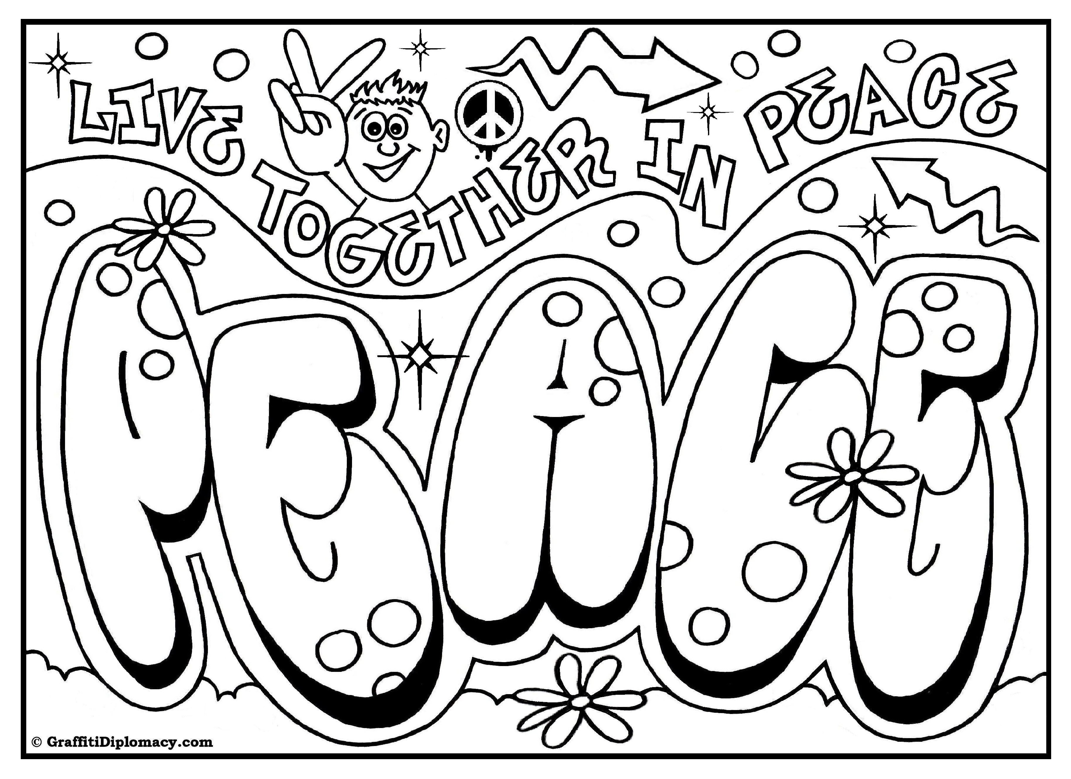 Graffiti Coloring Pages To Download And Print For Free