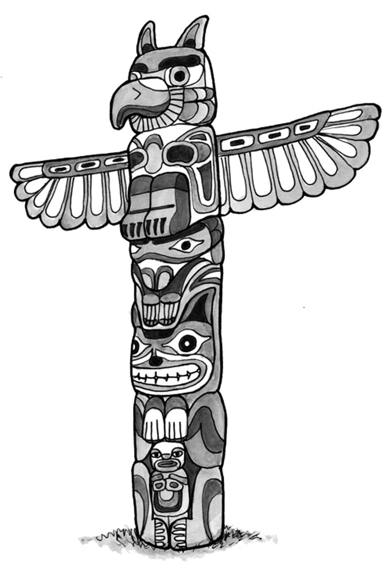 adult beauty totem pole coloring pages gallery images dashah