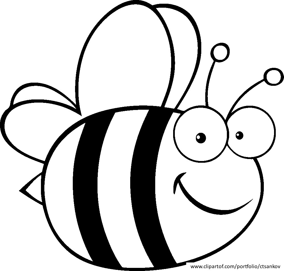 bumble bee smiling bumble bee coloring pages